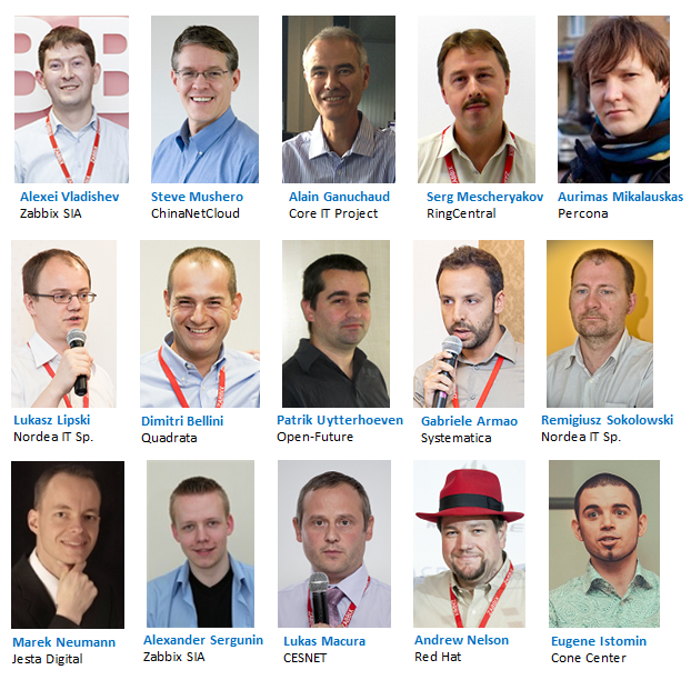 Speakers of Zabbix Conference 2014
