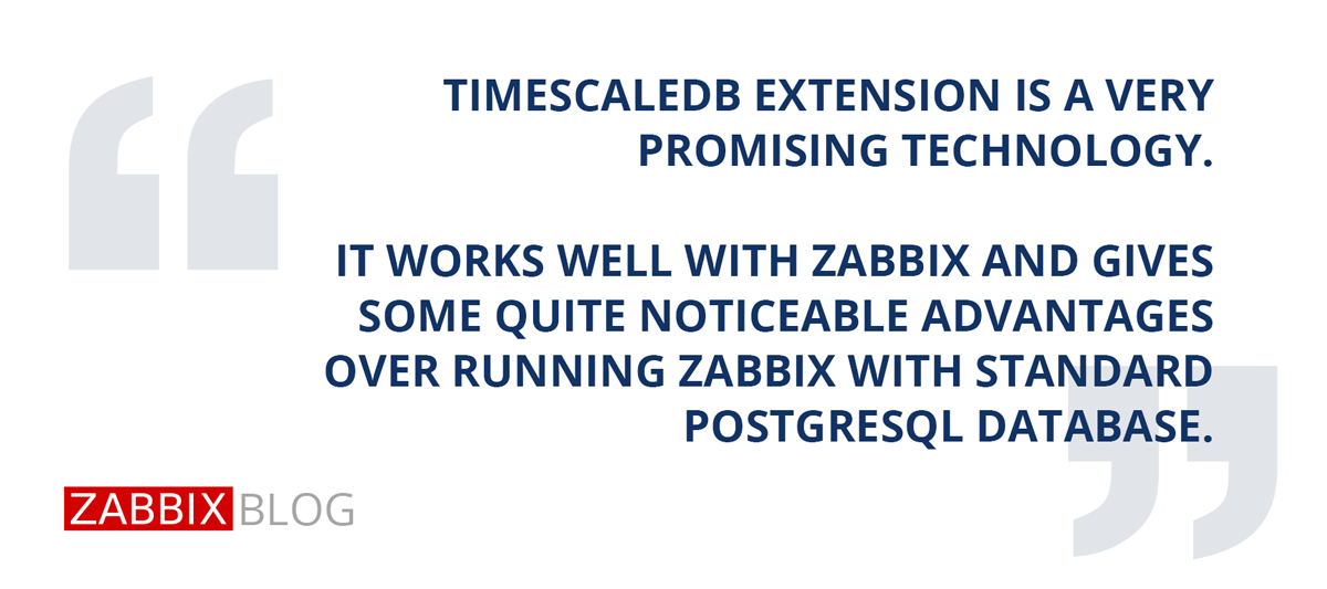 Zabbix, Time Series Data and TimescaleDB – Zabbix Blog