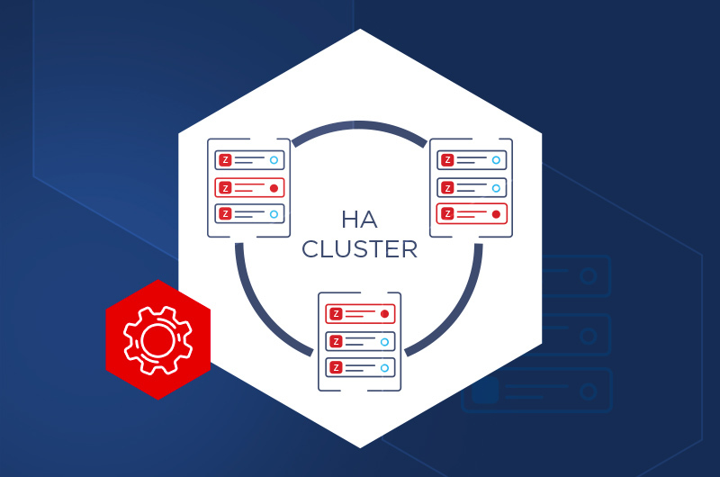 High Availability cluster building with Zabbix for continued service