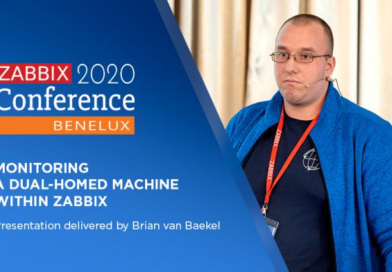 Brian van Baekel at Zabbix Conference Benelux 2020